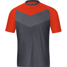 GORE WEAR C5 Trail Short Sleeve Jersey Men terra grey/orange